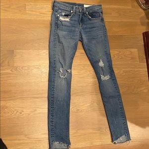 Rag and bone skinny jeans size 25 stem hem